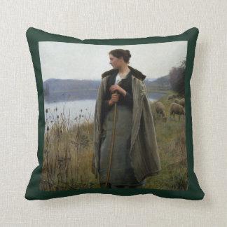 The Shepherdess Throw Pillow