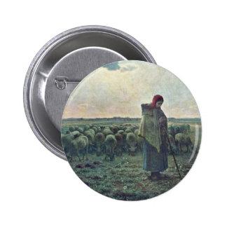 The Shepherdessdeutsch: Shepherdess By Millet  (Be Pins