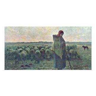 The Shepherdessdeutsch: Shepherdess By Millet  (Be Photo Card Template
