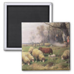 The Shepherd's Family 2 Inch Square Magnet