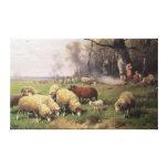 The Shepherd's Family Canvas Print