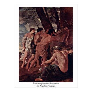 The Shepherds Of Arcadia By Nicolas Poussin Postcard