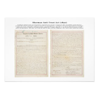 The Sherman Antitrust Act July 2 1890 Personalized Invitations