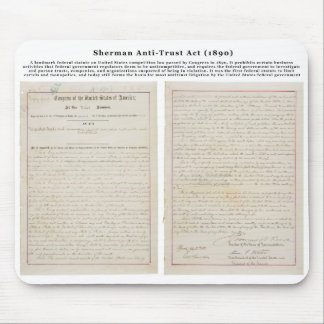 The Sherman Antitrust Act July 2 1890 Mouse Pad