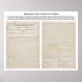 The Sherman Antitrust Act July 2 1890 Print