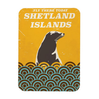 The Shetland Islands vintage travel poster Magnet