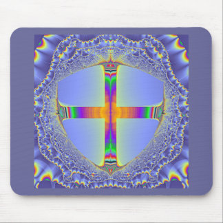 The Shield - Fractal Design by L.Funk Mouse Pad