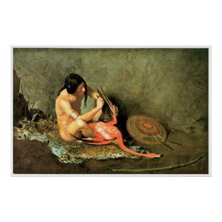 The Shield Maker 1890 by George De Forest Brush Poster