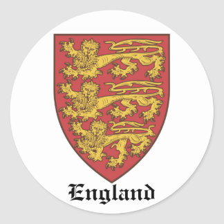 The Shield of England 2 Classic Round Sticker