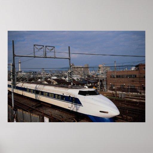 The Shinkansen or Bullet Train, Kyoto, Japan Poster