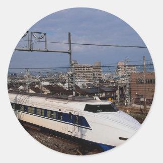 The Shinkansen or Bullet Train, Kyoto, Japan Stickers