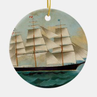 The Ship Fleetwing, Hong Kong Bay Ceramic Ornament