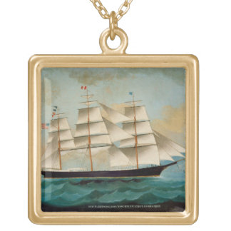 The Ship Fleetwing, Hong Kong Bay Gold Plated Necklace