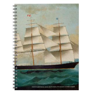 The Ship Fleetwing, Hong Kong Bay Spiral Notebook