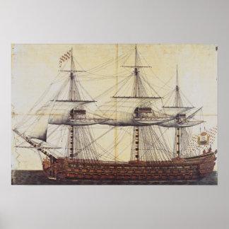 The Ship 'La Ville de Paris' Poster