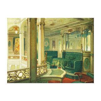 The Ship Patricia, Hamburg-America Line Stretched Canvas Print