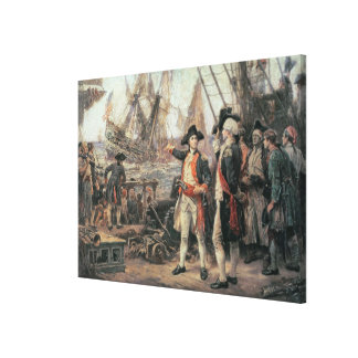 The ship that sank the Victory, 1779 Canvas Print