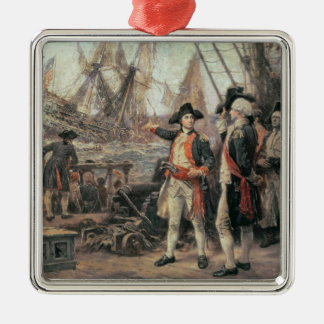The ship that sank the Victory, 1779 Metal Ornament