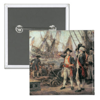 The ship that sank the Victory, 1779 Pinback Button