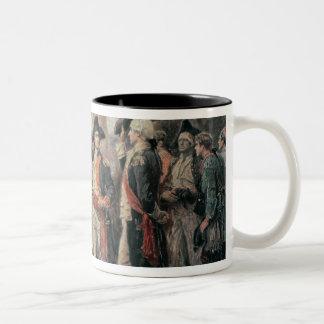 The ship that sank the Victory, 1779 Two-Tone Coffee Mug