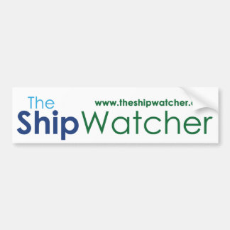 The Ship Watcher Bumper Sticker with web address
