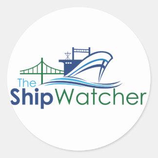 The Ship Watcher Sticker - Round