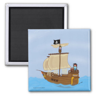 The Ship WIth Pirates Magnet Magnets