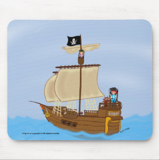 The Ship WIth Pirates Mousepad