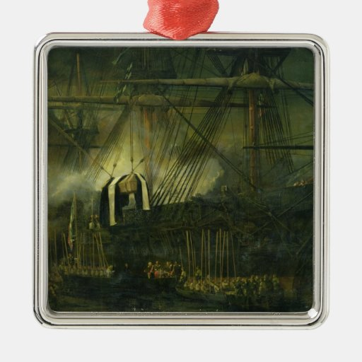 The Shipment of Napoleon's Ashes Aboard Christmas Tree Ornament
