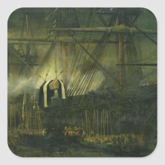 The Shipment of Napoleon's Ashes Aboard Square Sticker