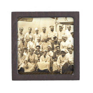 The ship's cooks aboard the R.M.S. Teutonic (b/w p Jewelry Box