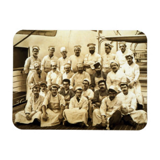 The ship's cooks aboard the R.M.S. Teutonic (b/w p Magnet