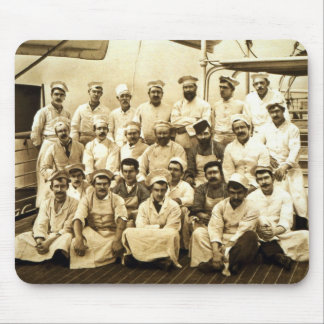 The ship's cooks aboard the R.M.S. Teutonic (b/w p Mouse Pad