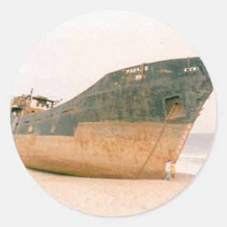 THE SHIPWRECK CLASSIC ROUND STICKER
