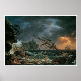 The Shipwreck Claude-Joseph Vernet Print