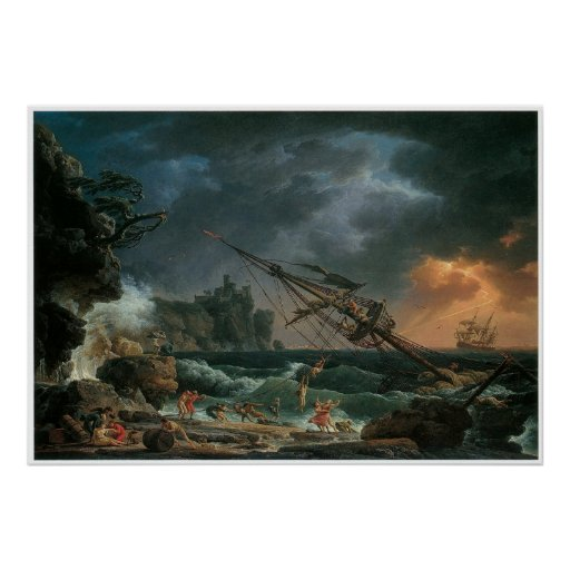 The Shipwreck, Claude-Joseph Vernet Print