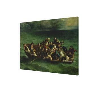 The Shipwreck of Don Juan, 1840 Canvas Print
