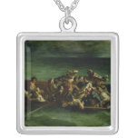 The Shipwreck of Don Juan, 1840 Square Pendant Necklace