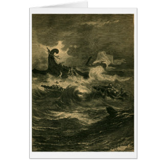 The Shipwreck of Paul Acts 1884 Bible Card
