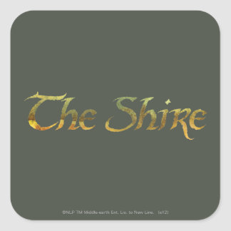 THE SHIRE™ Name Textured Square Sticker