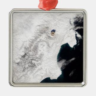 The Shiveluch Volcano in Kamchatka Krai, Russia Christmas Tree Ornaments
