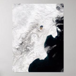 The Shiveluch Volcano in Kamchatka Krai, Russia Print