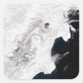 The Shiveluch Volcano in Kamchatka Krai, Russia Stickers