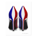 The shoes are women's high heeled shoes, also postcards
