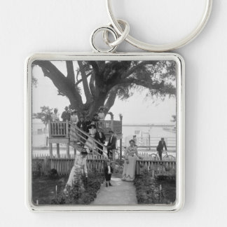 The Shoo-fly at Madame Boyles, early 1900s Keychain