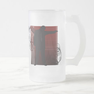 The Shooter Frosted Glass Beer Mug
