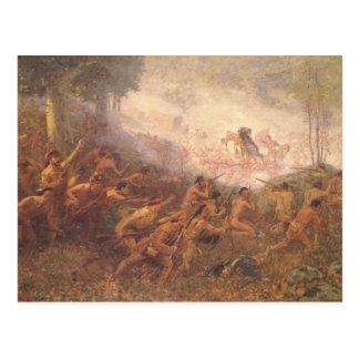 The Shooting of General Braddock Postcard