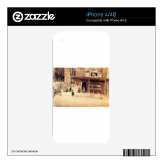 The Shop - An Exterior by James McNeill Whistler iPhone 4S Decals