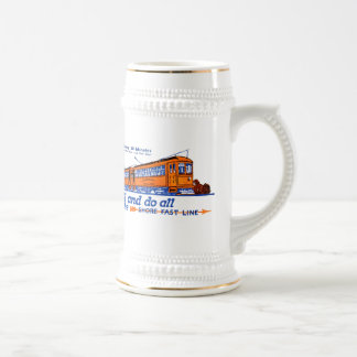 The Shore Fast Line Trolley Service Beer Stein