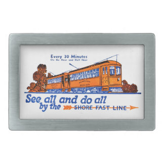 The Shore Fast Line Trolley Service Belt Buckle